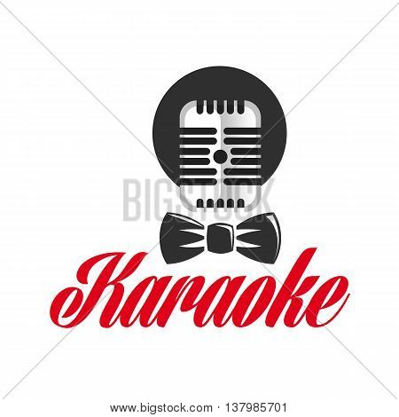 Logo template karaoke. Stock Vector Microphone for Karaoke. Icon microphone.
