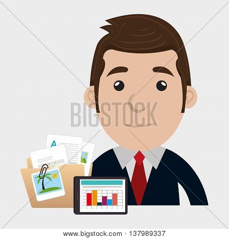 businessman isolated icon design, vector illustration  graphic