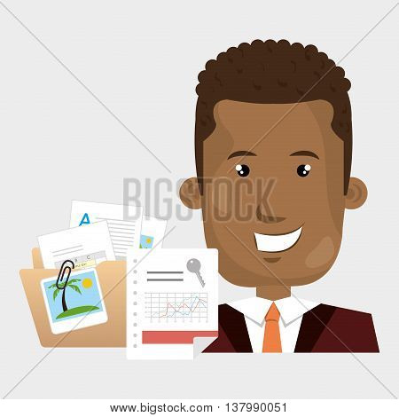 persons and papers isolated icon design, vector illustration  graphic