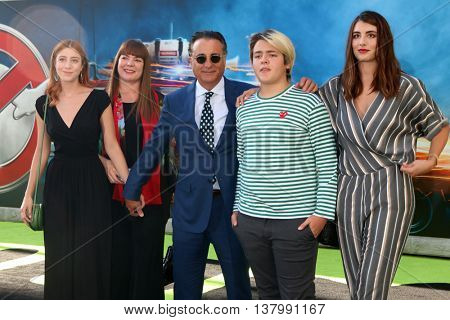 LOS ANGELES - JUL 9:  Daughter, Marivi Lorido Garcia, Andy Garcia, Andres Garcia-Lorido at the Ghostbusters Premiere at the TCL Chinese Theater IMAX on July 9, 2016 in Los Angeles, CA
