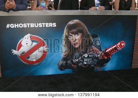 LOS ANGELES - JUL 9:  Kristen Wiig Ghostbusters Poster at the Ghostbusters Premiere at the TCL Chinese Theater IMAX on July 9, 2016 in Los Angeles, CA