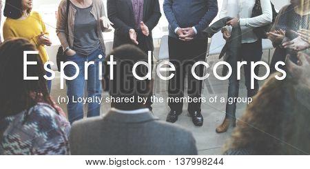 Esprit De Corps Group Loyalty People Graphic Concept