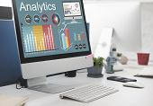 Analytics Data Statistics Analyze Technology Concept poster