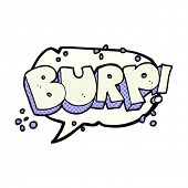 freehand drawn comic book speech bubble cartoon burp text poster