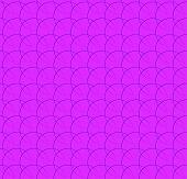 Repeatable pattern w/ interlocking circles rings. Regular monochrome seamless geometric pattern. poster