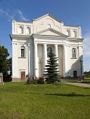 Catholic Church , built in 1785-1787 years, located in Ostrovec, Belarus , Church of Saints Cosmas and Damian poster