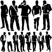 fashion men vector poster