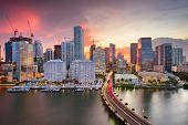 Miami, Florida, USA downtown Skyline. poster