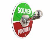 Problem Solution Solved Switch On Fix Repair 3d Illustration poster