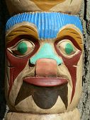 totem pole face close-up poster