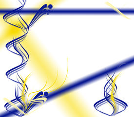 Yellow And Blue Abstract