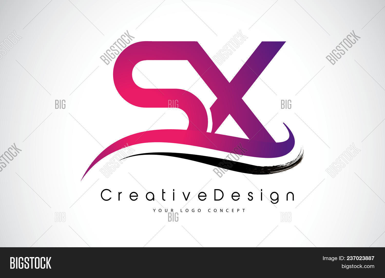 Sx S X Letter Logo Vector & Photo (Free Trial)   Bigstock