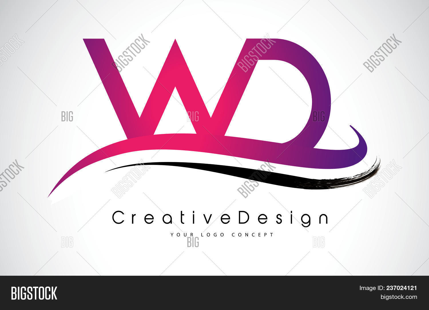 wd w d letter logo vector photo free trial bigstock