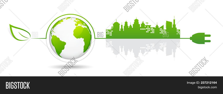Eco Green City Vector Photo Free Trial Bigstock