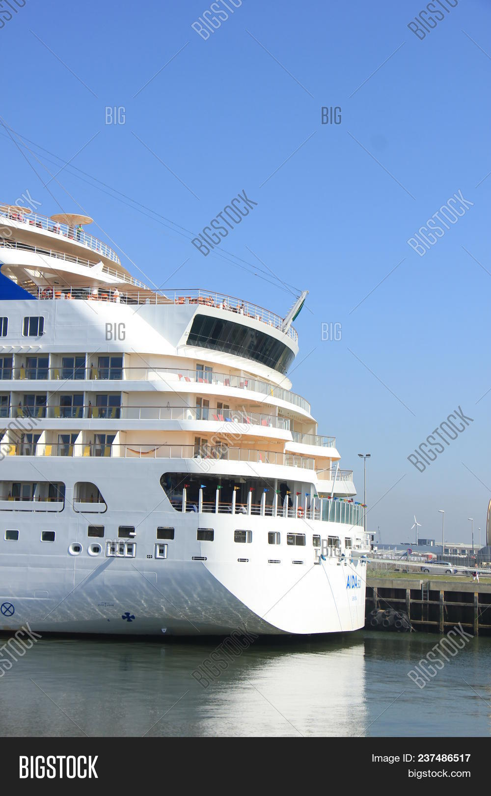 Ijmuiden, The Netherlands - April, 20 2018  Aida Sol Docked In Ijmuiden, 31c121eb61