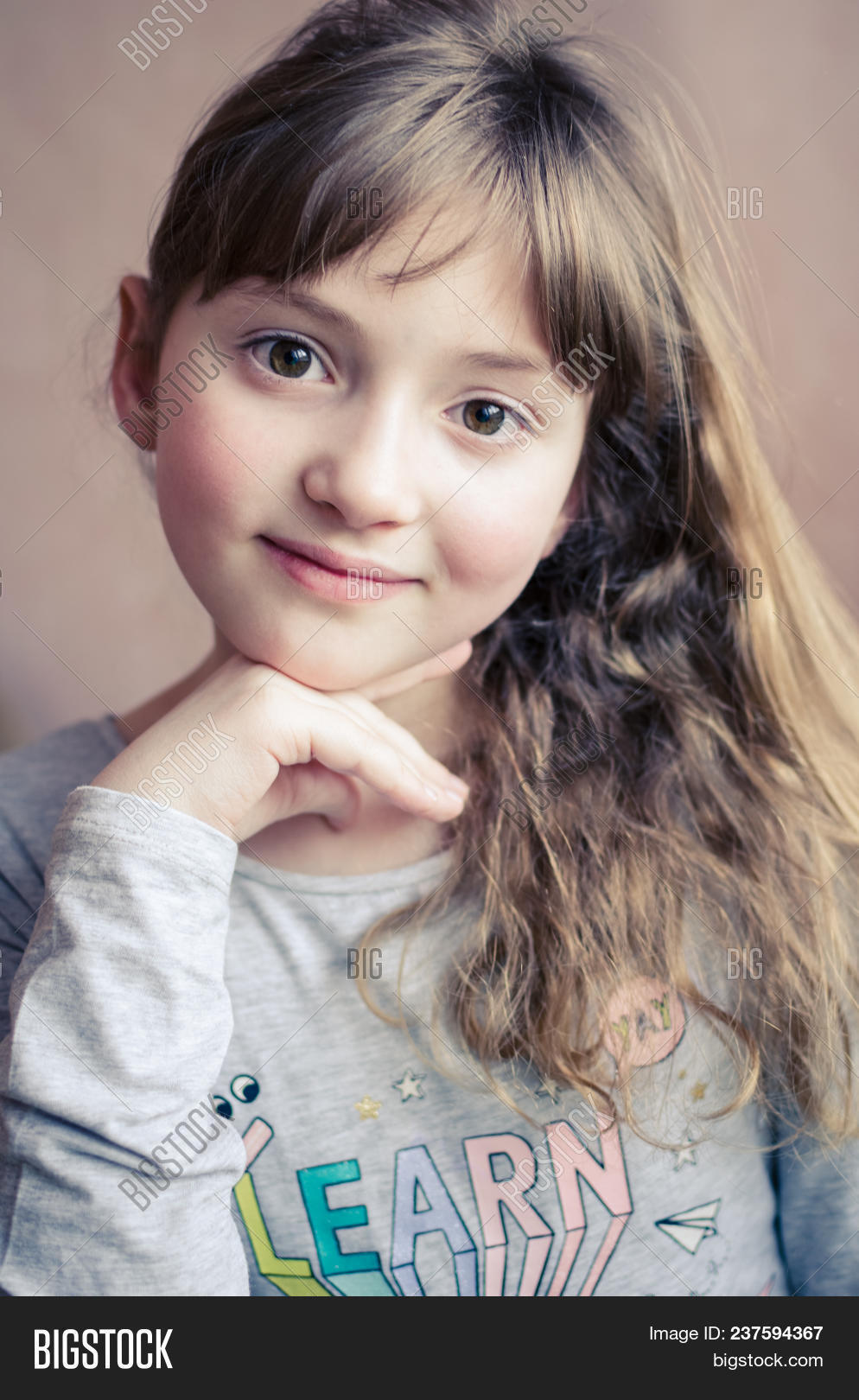Portrait Little Pretty Image Photo Free Trial Bigstock