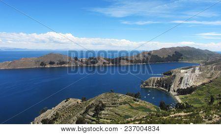 Island Of The Sun. Landscape Of Lake Titicaca. Isla Del Sol - Bolivia
