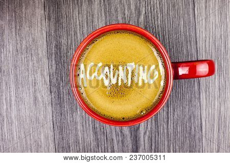 Conceptual Hand Writing Showing Accounting Motivational Call. Business Photo Text Account Inner Voic