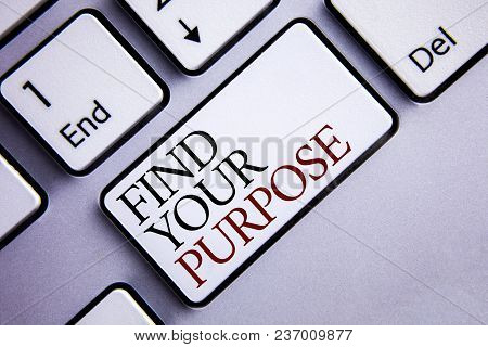 Word Writing Text Find Your Purpose. Business Concept For Life Goals Career Searching Educate Knowin