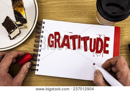 Conceptual Hand Writing Showing Gratitude. Business Photo Showcasing Quality Of Being Thankful Appre