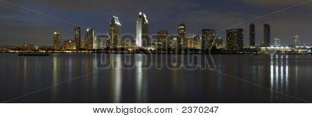 Dusk At San Diego Downtown - As Seen From Coronado Island