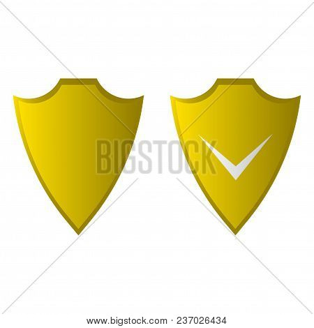 Shield Flat Icon. Security Icon. Vector Icon
