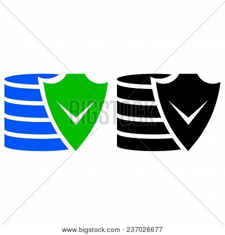 Financial Security Icon. Vector Icon. Flat Style