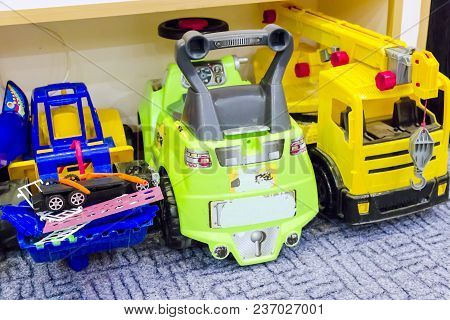 Pictured In The Photo Big Toy Cars On The Floor