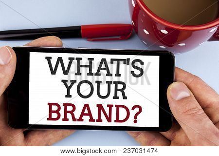 Word Writing Text What Is Your Brand Question. Business Concept For Define Individual Trademark Iden