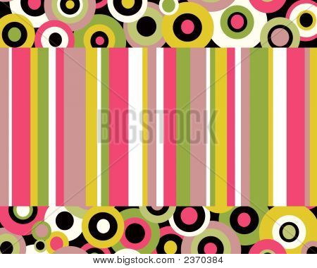 Crazy Circles And Stripes On Top And Bottom