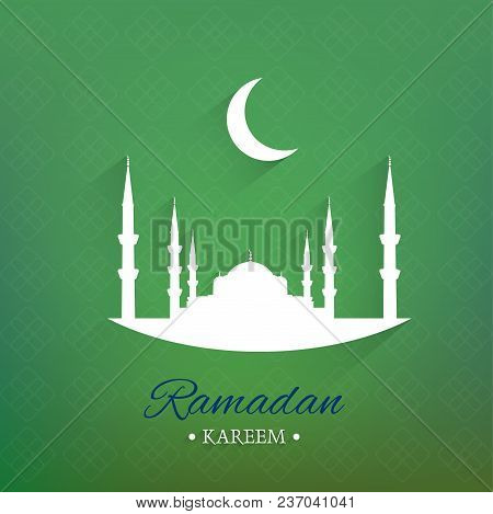 Illustration Of Ramadan Kareem Background, Vector, Illustration, Eps File