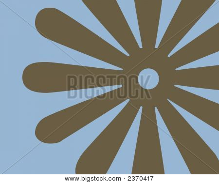 Brown And Turquoise Flower Background