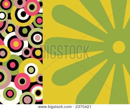 Retro Circles And Floral Retro Design