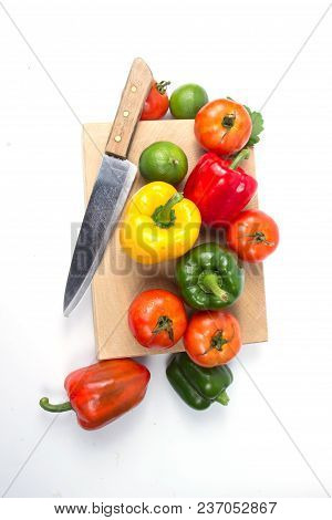 Fresh Fruits And Vegetables Isolated On White Background,red Green Yellow Vegetables,fresh Fruits An