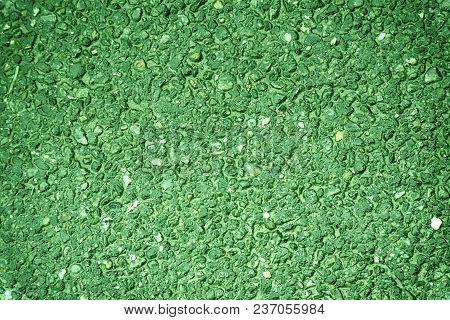 Ultra Green Colored Old Grungy Cement Texture, Concrete Wall Background For Web Site Or Mobile Devic