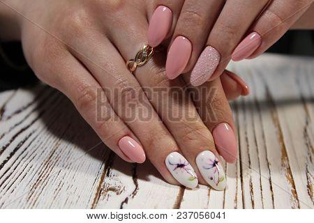 Glamorous Pink Manicure
