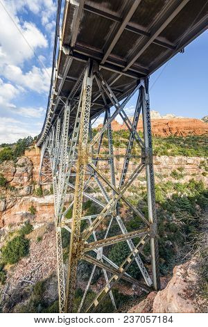 Added To The National Register Of Historic Places In 1989, The W.w. Midgley Bridge Takes Arizona Sta