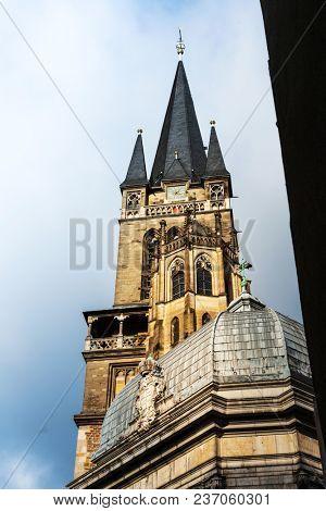 Katschhof in Aachen, Germany, Europe