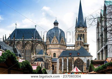 landmark Aachener Dom in Aachen, Germany, Europe