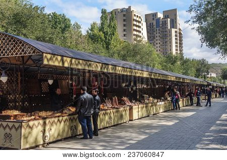 Yerevan, Armenia - October 05, 2017: Opening Day (vernissage) In Yerevan, Sunny Autumn Day