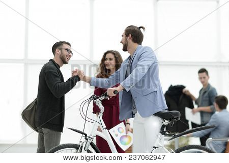 consultant and the buyer giving each other a high five