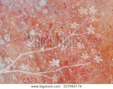 Tender Pink Rose Natural Marble Stone Texture Pattern Background Illustration With Embossed Effect O
