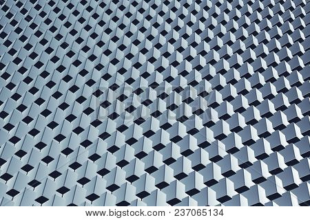 Corporate Business Abstract 3d Rendering Background With Cubes Array In Repeating Pattern
