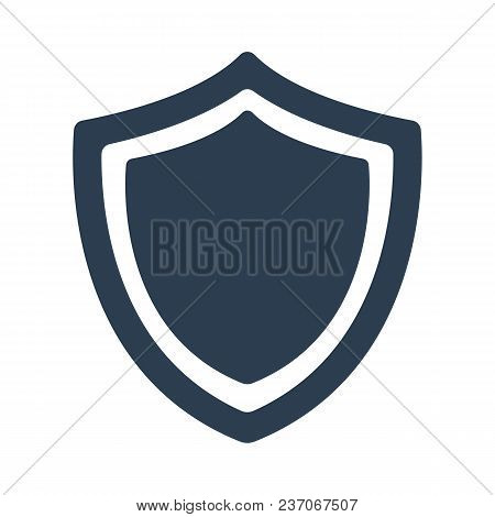 Shield Icon On White Background. Vector Illustration