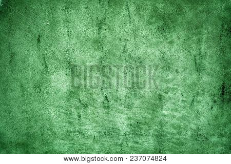 Golden Lime Colored Old Grungy Cement Texture, Grey Concrete Wall Background For Web Site Or Mobile