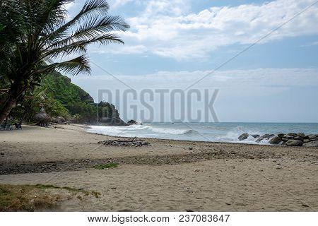 Wild Tropical Coast Next To Caracas (vargas, Venezuela).