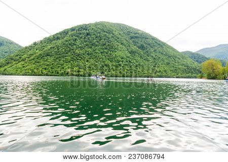 Beautiful Lake And Nature. Travel And Tourisam Concept.