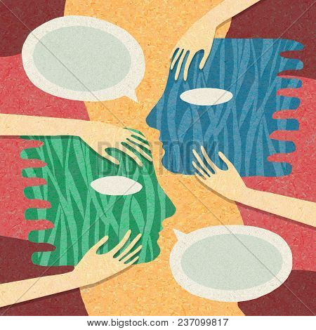Illustration About Psychology, Partnership And People-to-people Relationship In Their Daily Lives An