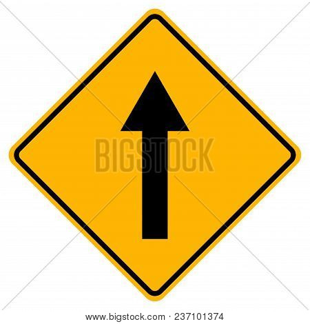 Go Straight Traffic Sign,vector Illustration, Isolate On White Background