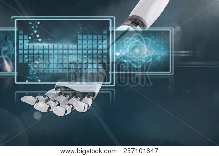 3D robot hand interacting with medical interfaces